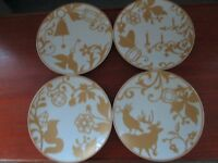 4 Marks and Spencer Christmas plates unused