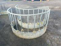 Sheep calf round bale ring feeder hay silage etc