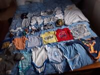 Bundle of baby boy clothes 0 to 6 months