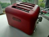 DeLonghi Red Toaster 4 Slice