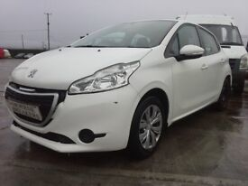 **For breaking** 2013 Peugeot 208 1.2 petrol (choice of two).