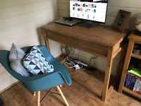 BHS Oak Veneer Desk