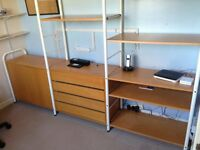 Office Desk drawers and shelves in one unit
