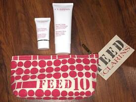 Clarins Set with Bag & 2 Products