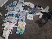 Bundle of baby boy clothes - 0-3 months