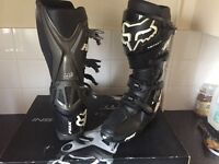 Motorcross boots ,helmet,kit,drinks bag,goggles