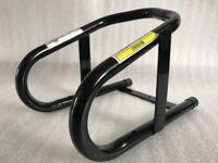 Black Pro Range Motorcycle Bike Motorbike Front Wheel Chock Stand