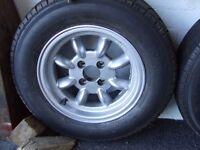 "6""x13"" Caterham/Triumph wheels and Yokohama A021R tyres. 185 x 70 x 13"