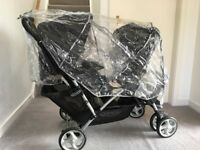 Very good condition Includes rain, Graco Stadium , tandem pushchair