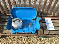 CAMPING GAS STOVE AND KETTLE-AS NEW