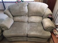G Plan 3 Seater Settee with footrest 2 Seater Settee with footrest and 1 Poufee