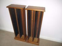 Two pine CD storage racks / towers. Each holds 120 CD's. Good condition.