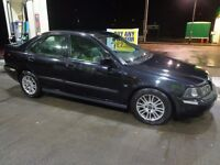2003 black volvo s40 1.9 diesel with push button start+black leathers+ long mot+tax+towbar+DELIVERY