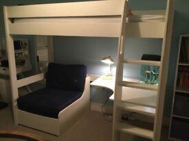 White Stompa High Sleeper Bed