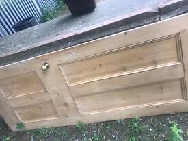 Original reclaimed solid wood door