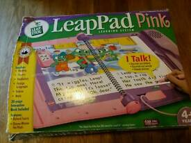 leap pad learning system pink