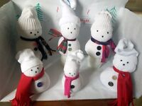 SNOWMEN decorations:– please NOTE ….. they will not melt!!!