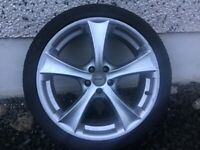 18INCH 5/100 ALLOY WHEELS WITH TYRES FIT TOYOTA VW SEAT AUDI ETC
