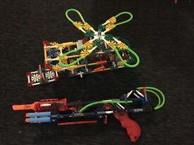 K'Nex bundle set Transport Chopper & K- Force Mega Boom RRP £50