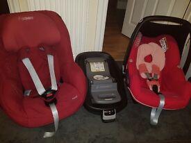 Car seat set with isofix base
