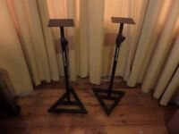 Samson studio monitor/speaker stand, one pair, very good condition