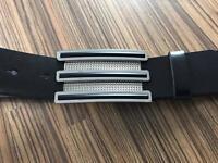 Adidas Golf Black Leather Belt