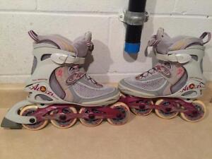 Women's Size 8 K2 Alexis Speed Rollerblades