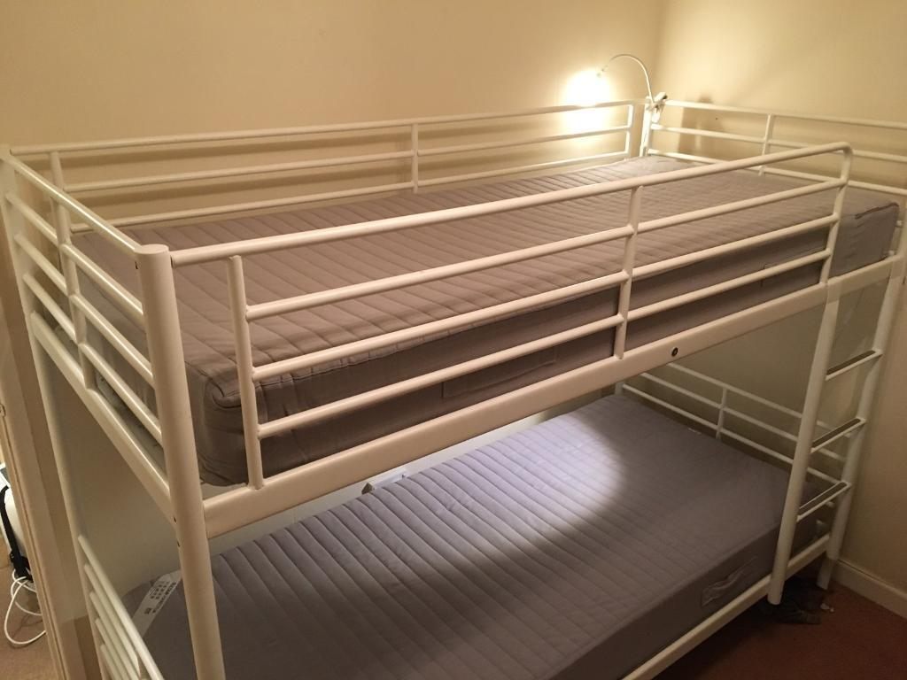 Cream Metal Ikea Bunk Beds In Rochdale Manchester Gumtree