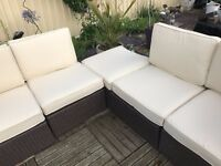 Garden / Conservatory modular 5 seater weatherproof rattan furniture