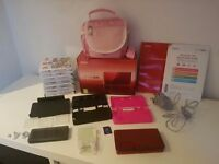 Metallic Red Nintendo 3ds Boxed with 7 Games, Carry Case, 2 Cases, Screen Protectors, Charging Dock