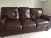 Leather Sofas - 3 seater & 2 seater