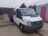 FORD TRANSIT CREWCAB DROPSIDE WITH TAIL LIFT, 56REG,1 OWNER, FULL SERVICE HISTORY,NO VAT, FOR SALE