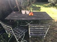 Bistro garden furniture set with six chairs