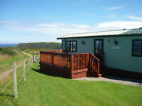 static caravan with superb panoramic views