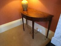 Lamp/Occasional Table for Lounge - mahogany finish