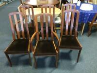 Set of 6 retro mid century dining chairs