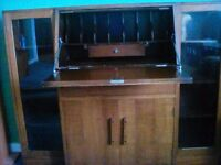 Writing desk/display cabinet REDUCED TO CLEAR