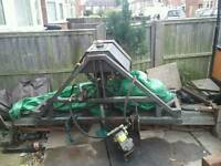Tractor mounted gang mower