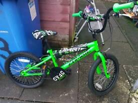 "Concept Zombie BMX 16"" Wheel, Single-Speed Neon Green Bicycle"