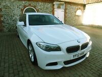 BMW 5 M Sport, Diesel, Auto, White, Sat Nav, CD very well looked after in excellent condition