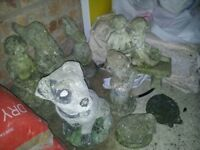 Garden ornaments and well planter