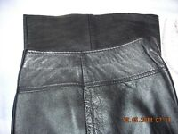 Vintage black leather trousers