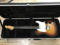 Fender 62 Sunburst Double Bound Telecaster inc Hard Case Made in Japan Very Good Condition.