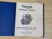1960's TRIUMPH MOTORCYCLE WORKSHOP MANUAL FOR 350 & 500cc UNIT CONSTRUCTION ENGINES