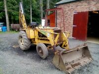 International Harvester Tractor 3434 With Clam Shell Front Loader and Back Hoe Digger