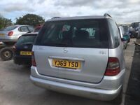 Mercedes benz ml 270cdi auto pats available