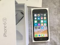 iPhone 6s (O2, GiffGaff, Tesco|14 Day Guarantee|16GB|Deliver+Post|Apple|Black)