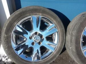 THREE ONLY NOT FOUR .DODGE JOURNEY / GRAND CARAVAN  FACTORY OEM 19 INCH CHROME CLAD ALLOY WHEELS  IN GOOD CONDITION.