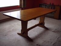 Beech wood dining table