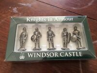 Pewter Knights in Armour set